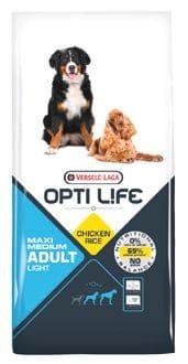 Opti Life ADULT LIGHT Medium & Maxi 12,5 kg - Pacashop - Ushuaia Vet di Andrea Ancillotti