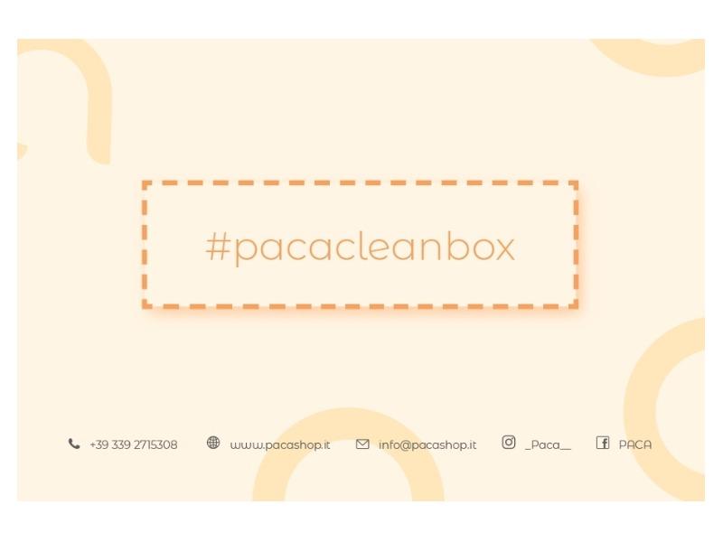 Etichetta #pacacleanbox