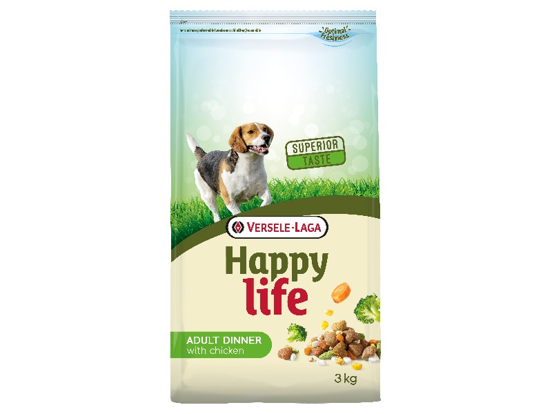 Happy Life Adult Chicken Dinner 3 kg - Pacashop - Ushuaia Vet di Andrea Ancillotti