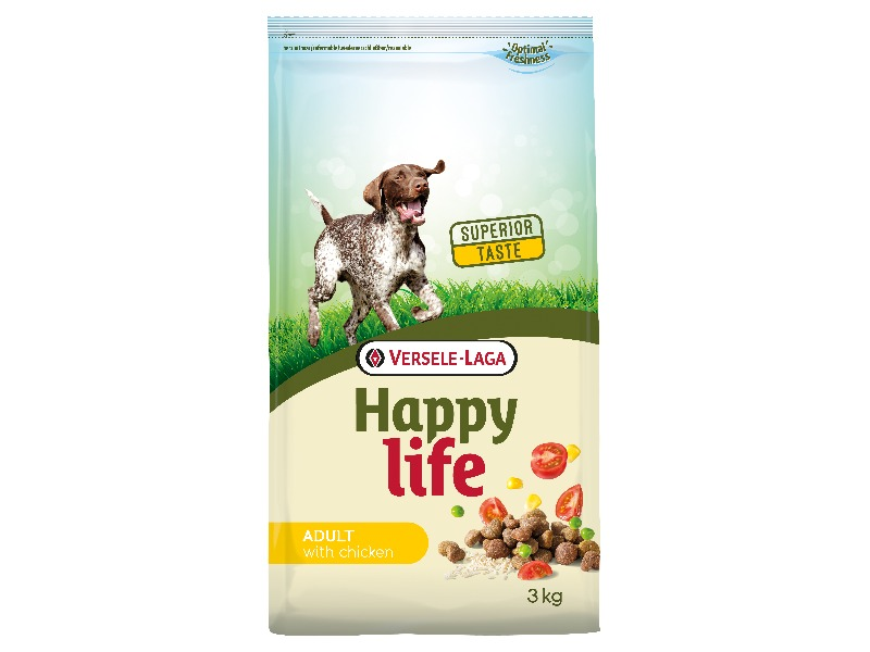 Happy Life Adult Chicken 3 kg - Pacashop - Ushuaia Vet di Andrea Ancillotti