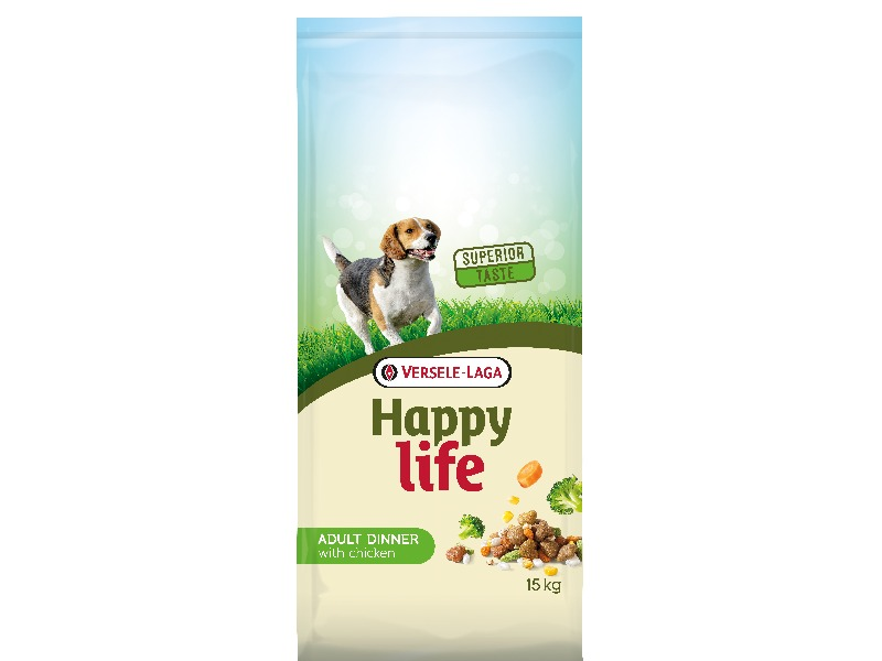 Happy Life Adult Chicken Dinner 15 kg - Pacashop - Ushuaia Vet di Andrea Ancillotti