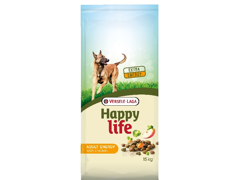 Happy Life Adult ENERGY with Chicken 15 kg - Pacashop - Ushuaia Vet di Andrea Ancillotti