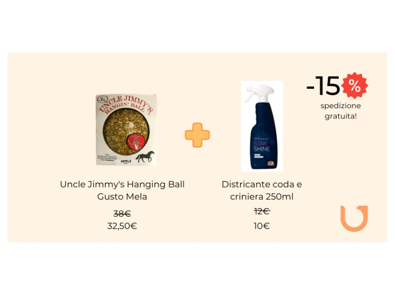 Uncle Jimmy Apple + Districante criniera/coda 250ml